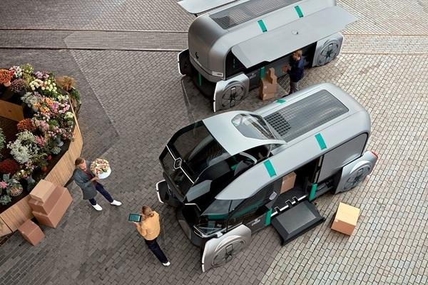 Renaultпредставили беспилотник для доставки товаров по городу
