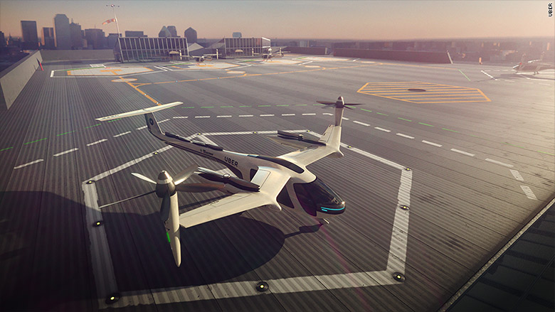 Uber и NASA создадут летающее такси совместно