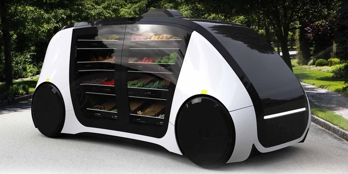 Стартап дня: беспилотный электрокар для доставки продуктов из супермаркетов