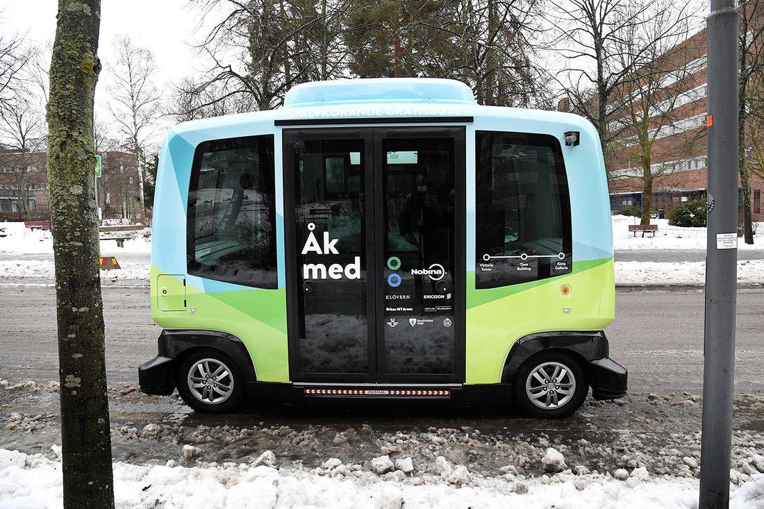 В Швеции начали работать автобусы без водителей