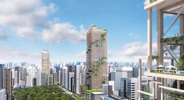 В Токио построят деревянный небоскреб