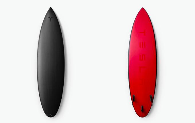 Tesla выпустили доски для серфинга