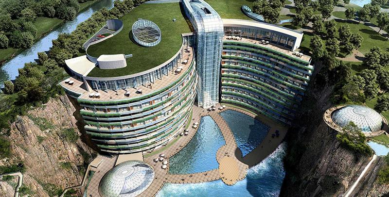 """Первый """"подземный"""" отель открылся в Китае"""