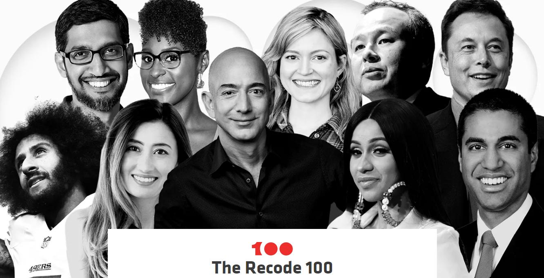Рейтингсамых значимых персон 2017 года из мира технологий, медиа и бизнеса (по версии Recode)