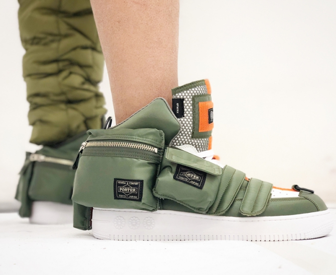 Porter создал кроссовки с сумками по бокам