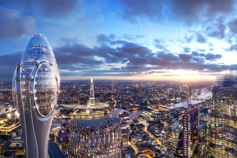 Место дня:  305-метровая башня-тюльпан в Лондоне