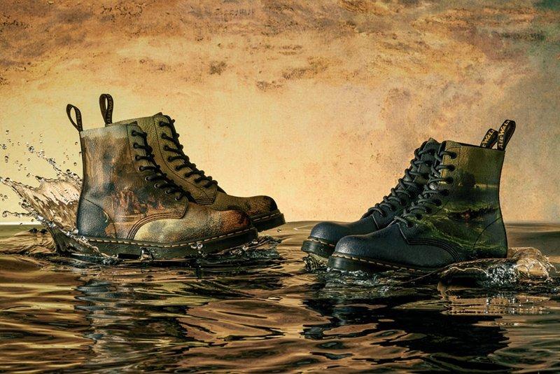 Dr. Martens выпустили ботинки с изображением пейзажей