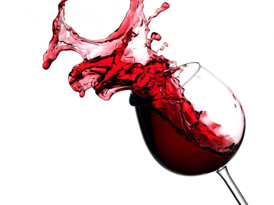 Рисунок бокала с красным вином